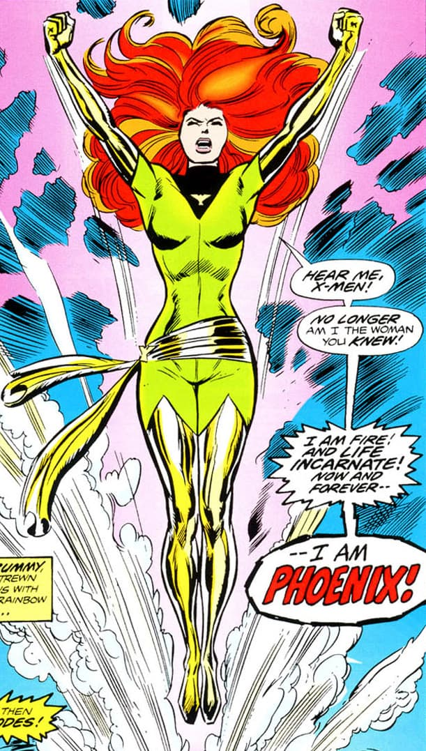 Jean Grey first appears as the Phoenix in UNCANNY X-MEN #101 page 5 before becoming Dark Phoenix.