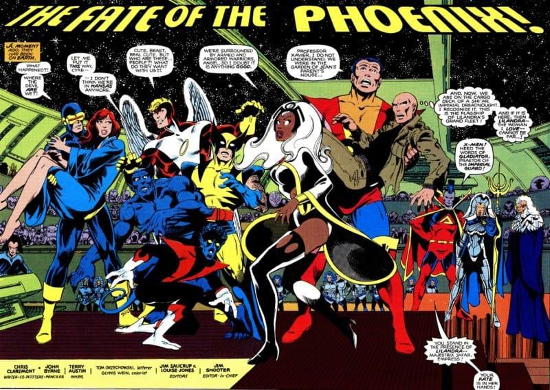 UNCANNY X-MEN PHOENIX SAGA pages 152 - 153.