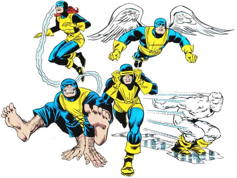 The Original Members of the X-Men.