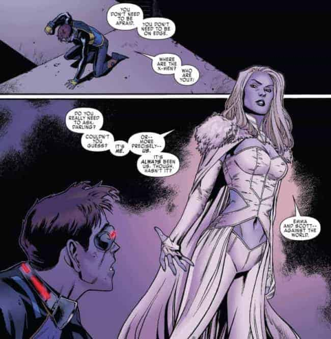 EMMA FROST and Cyclops