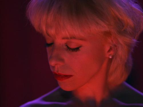 "Julee Cruise performing ""The World Spins"" at the Roadhouse"