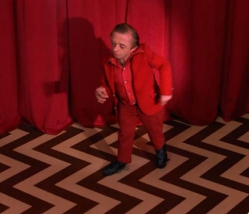 "The Man From Another Place, a.k.a. ""the dancing dwarf,"" dancing in the Black Lodge during Agent Cooper's dream"