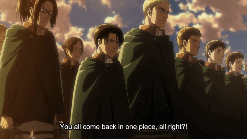 The Scouts prepped for departure to retake Wall Maria in ATTACK ON TITAN