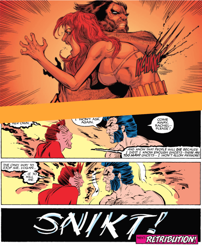 Wolverine killing Jean and Rachel