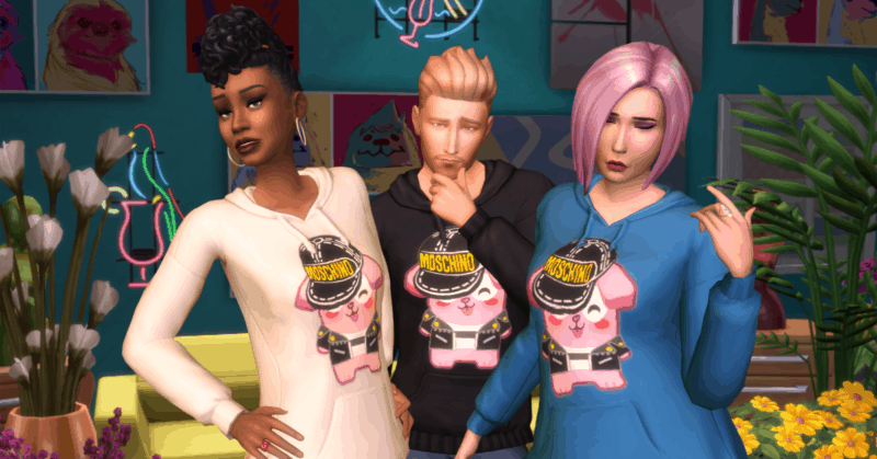 Moschino x The Sims Hoodie available in-game