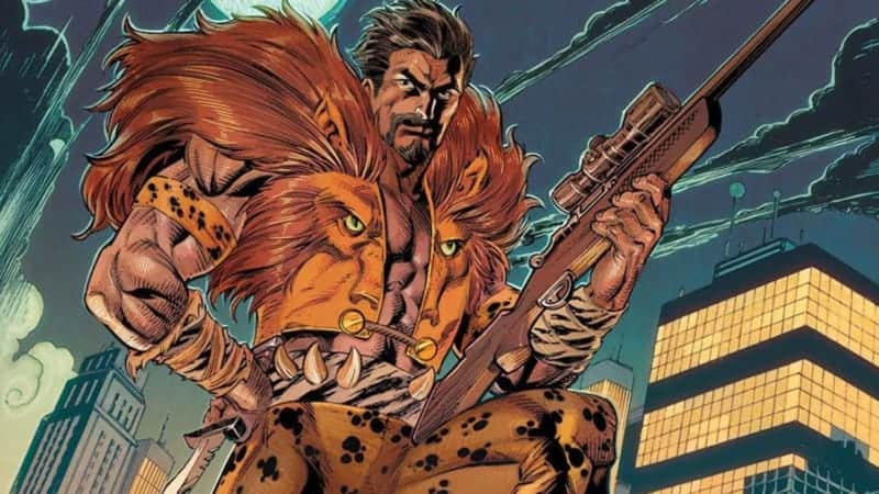 Kraven carrying a sniper rifle